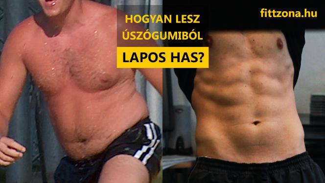 alsó hasi zsírvesztés előtt és után