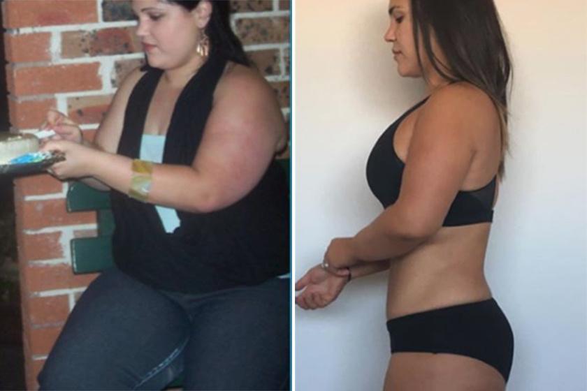 zsírvesztés előtte és utána