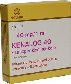 Kenalog 40 fogyás