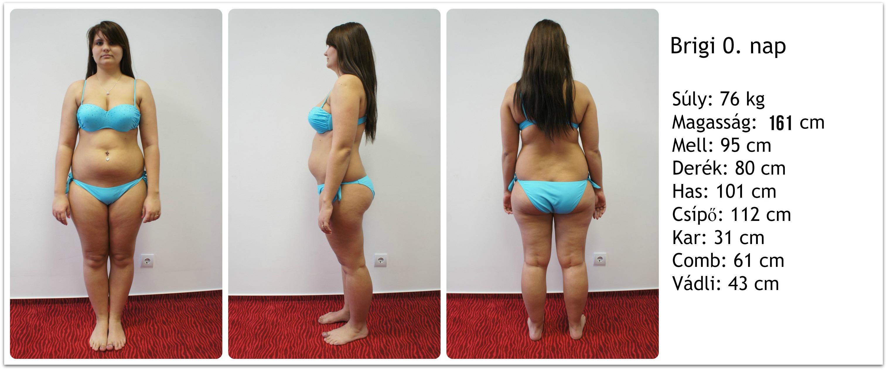 1 kg fogyás előtt és után