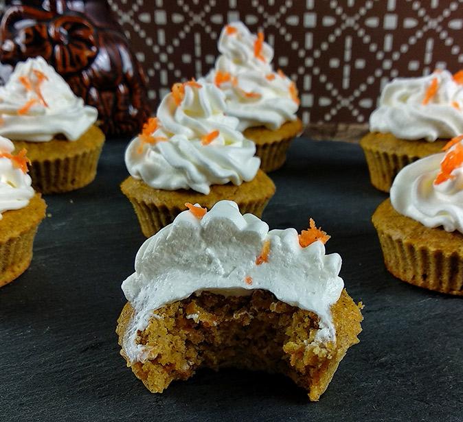 Almás-répás zabpelyhes muffin