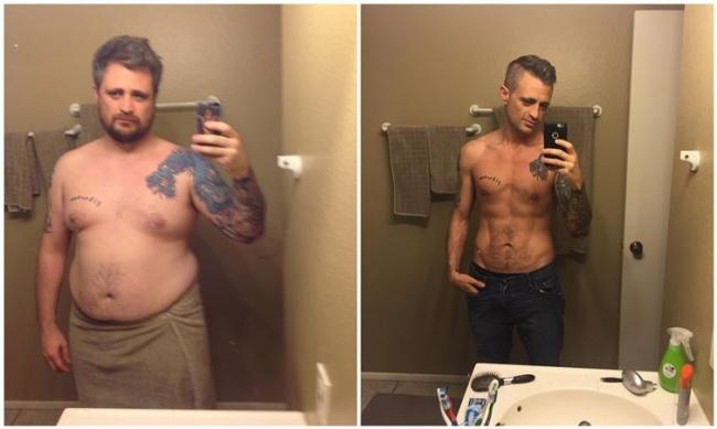 elképesztő fogyás előtt és után a férfiak egészségének fogyás átalakulásai