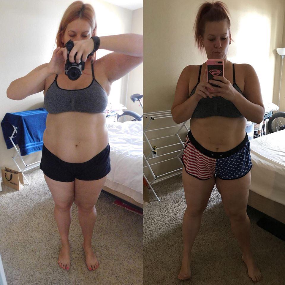 súlycsökkenés a karok előtt és után