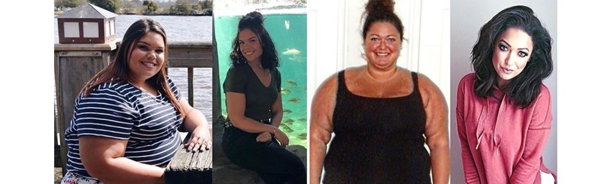 7 hét fogyás előtt és után
